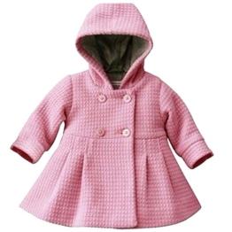 Free Fisher Baby Mädchen Mantel Warm Wintermantel Mit Kapuze, Rosa, Gr. 86/92(Herstellergröße: 90) -