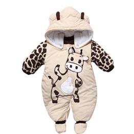 Gaorui Babys Schneeanzug Overall Winterjacke Schlafstrampler mit Tiere Muster Süßigkeit -