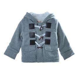 Gaorui Winter Baby warme Fleece Kapuzenmantel Horn-Knopf Parka Jacke Jacket Grau Braun -