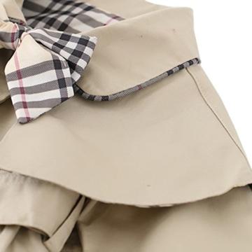 [Trenchcoat Baby Mädchen] Schleife Gürtel Mantel mit Umhang Jacke Baumwolle Frühling Herbst Windbreaker Mode Oberbekleidung Outerwear Khaki L -