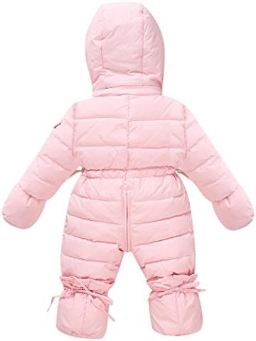 ZOEREA Baby Mädchen Daunenanzug Daunenmantel Strampler Winter Kleidung Pink Schwarz Rot für 0-12 Monate -