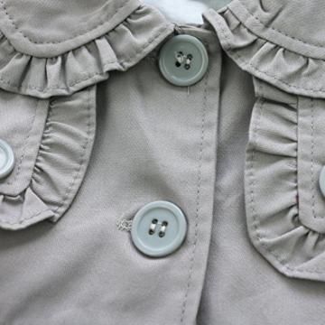 Baby Mädchen Kinder Jacke Trenchcoat Winter Mantel mit Kapuzen Outwear Gr. 80 92 98 104 110 Grau 92 (Herstellergröße:90) -