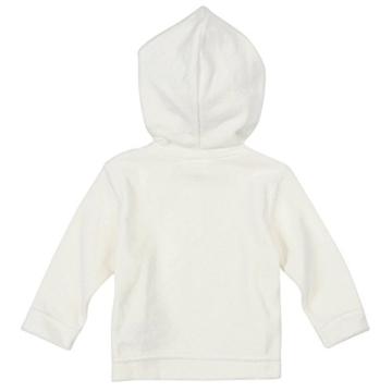 BORNINO Nicki-Kapuzenjacke Baby-Jacke Babykleidung, Größe 50/56, weiß -