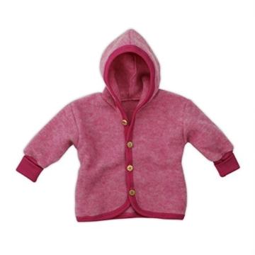 Cosilana Jäckchen mit Kapuze, Größe 62/68, Farbe Pep-Pink melange - Vertrieb nur durch Wollbody® -