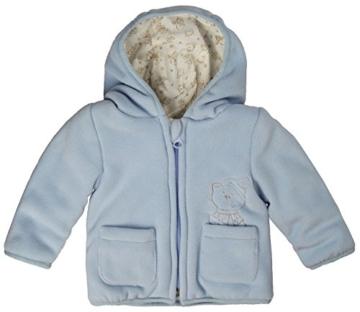 Kanz Unisex Baby Jacke Fleecejacke m. Kapuze 1/1 Arm, Gr. 74, Blau (skyway blue 3018) -