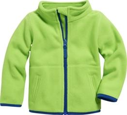 Schnizler Unisex Baby Jacke Fleecejacke, Babyjacke mit Kontrastnähten, Grün (Grün 29), 74 -