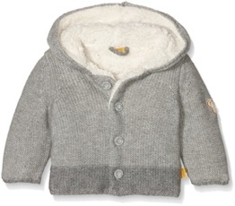 Steiff Collection Jungen Strickjacke Strickjacke 1/1 Arm, Gr. 74, Grau (gray violet 1210) -