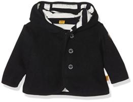 Steiff Collection Unisex Sweatshirt Jacke Fleece, Gr. 56, Blau (marine 3032) -