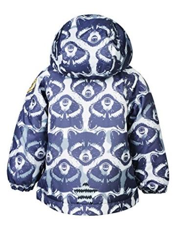 Racoon Baby-Jungen Jacke Raw Winterjacke (9.000 Wassersäule), Mehrfarbig (Ebony Ebo), 98 -