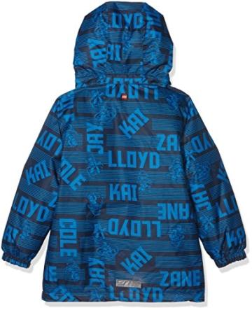 LEGO Wear Mädchen Jacke Boy Ninjago Jadon 871-Skijacke_Winterjacke, Blau (Dark Blue 597), 116 -