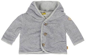 Steiff Unisex Baby Jacke Fleecejacke 1/1 Arm, Gr. 62, Grau (Steiff softgrey melange|gray 8200) -